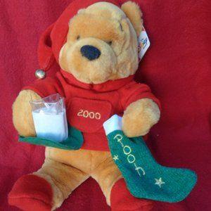 Winnie the Pooh Christmas 2000 Plush